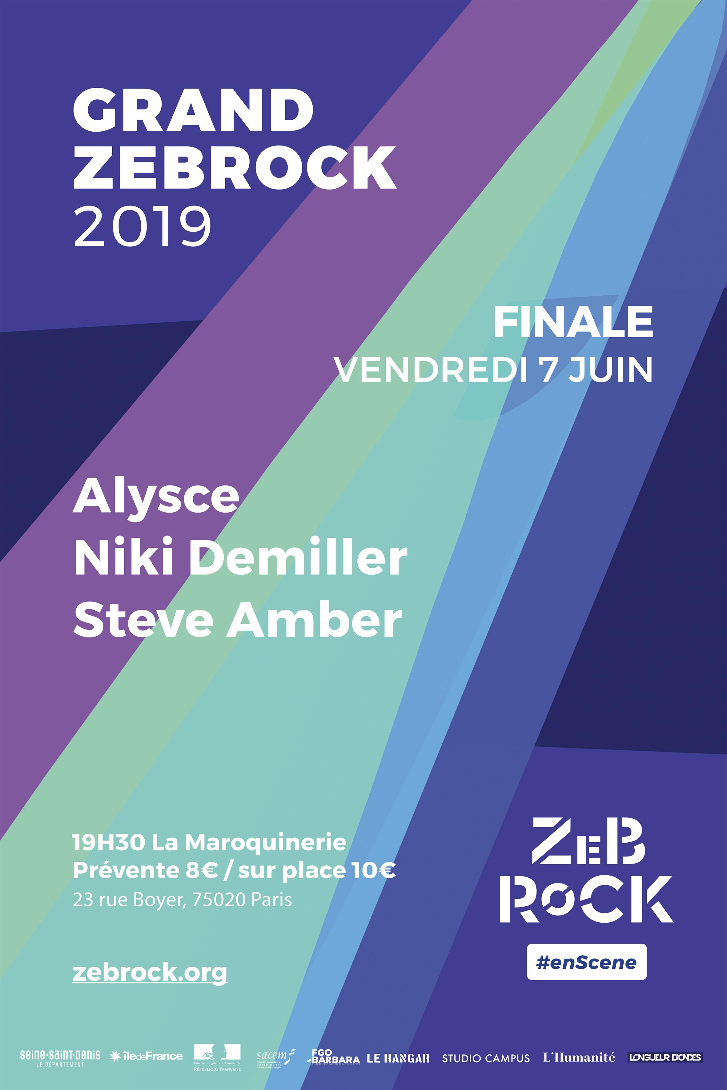 Affiche de la finale du Grand Zebrock 2019.
