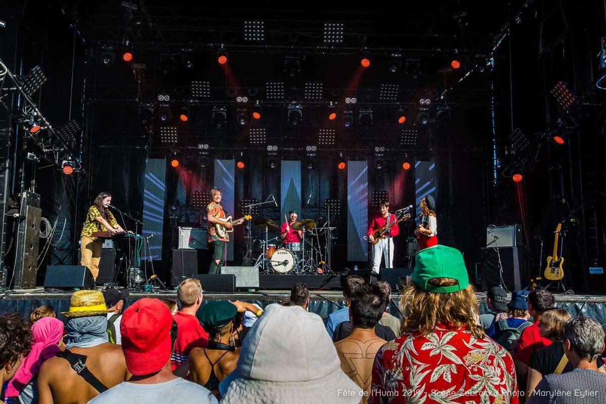 Michelle Blades et ses musiciens sur la Scène Zebrock.