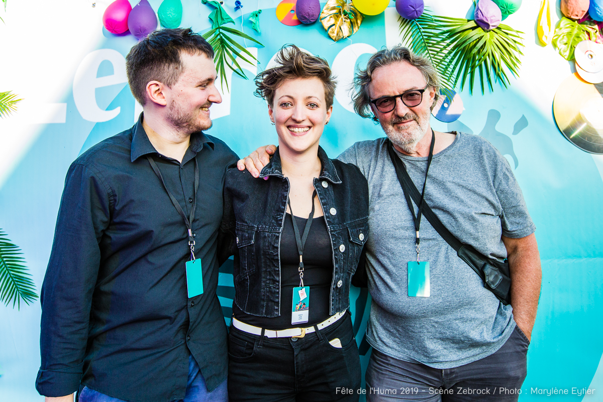 Alysce (lauréate du Grand Zebrock 2019) accompagnée de son frère Julien Ducoin et de son père Benoît Ducoin.