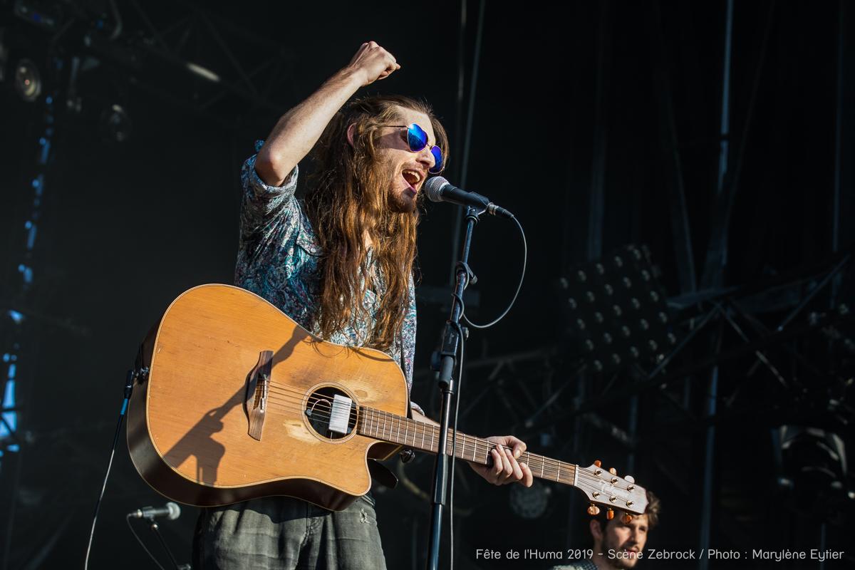 Steve Amber. Tchaz Locke chanteur et guitariste de Steve Amber (Grand Zebrock 2019).