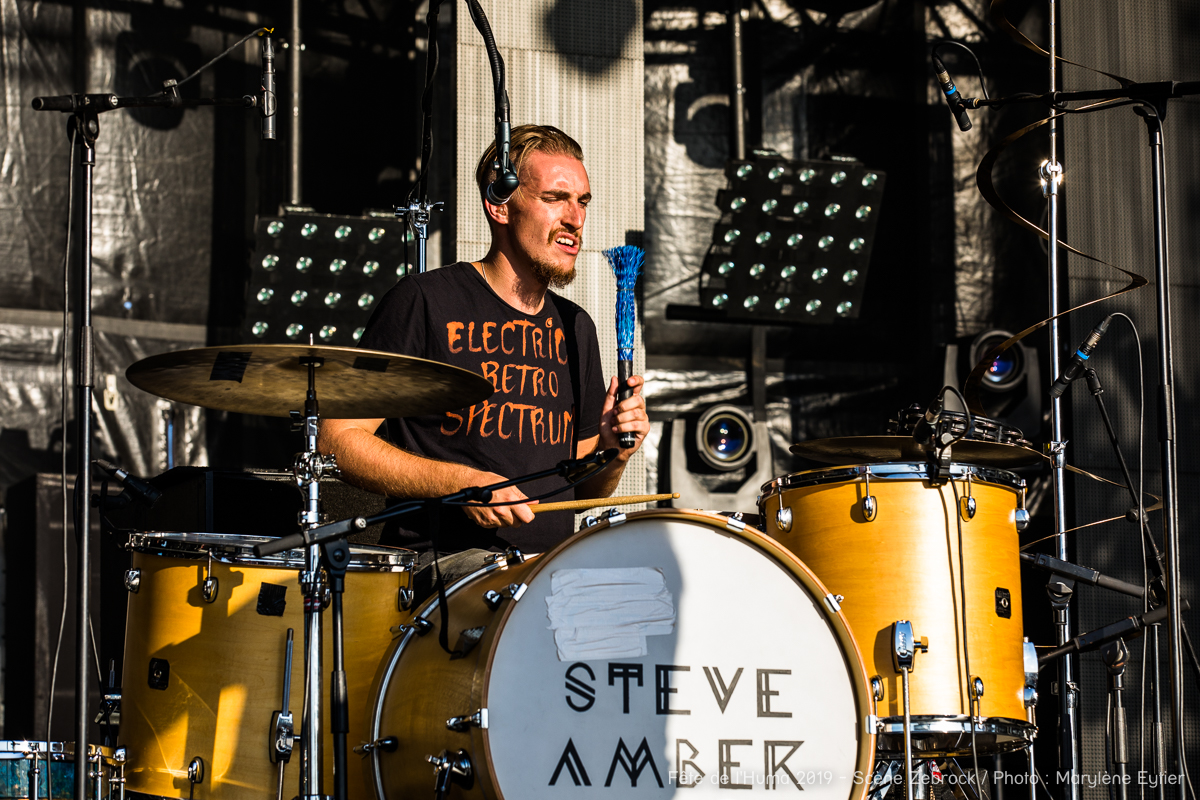 Steve Amber. Greg Demson, batteur de Steve Amber (Grand Zebrock 2019).