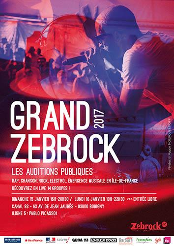 Affiche du Grand Zebrock 2017.